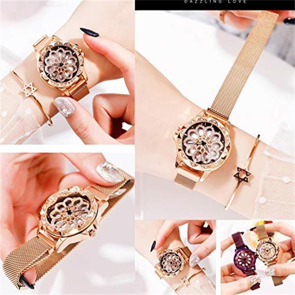 (60% OFF ONLY TODAY!)Magnetic Rotate Hollow Snowflake Quartz Watch