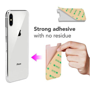 (Hot selling 50,00 items)Phone Stretchy Wallet Pocket (2pcs)