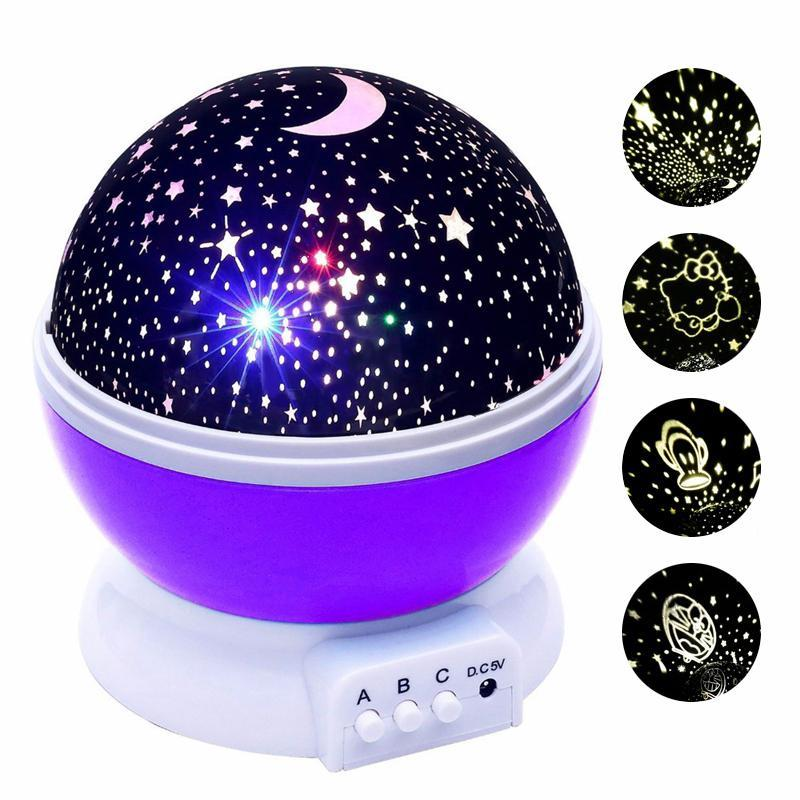LED Rotating Starry Sky Night Light Star Projector