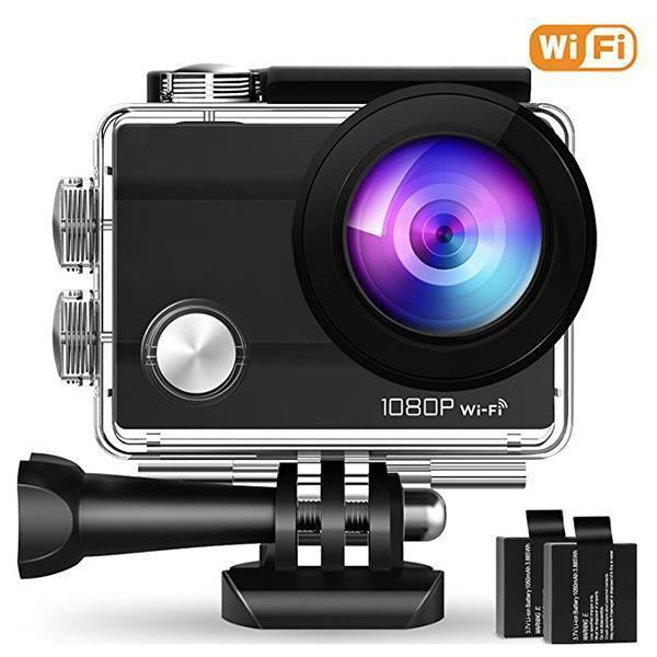 20MP 4K WiFi Action Camera Waterproof Sports Cam 170 Degree Ultra Wide-Angle Len