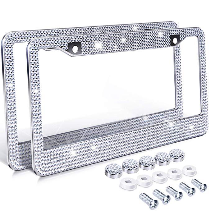 (50%OFF ONLY TODAY)Bling- License Plate Frame-BUY 2 FREE SHIPPING