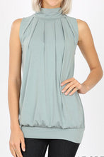 Load image into Gallery viewer, High Neck Pleat (light green)
