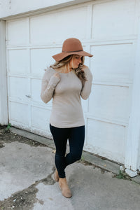 Criss Cross Sweater Oatmeal (more colors!)