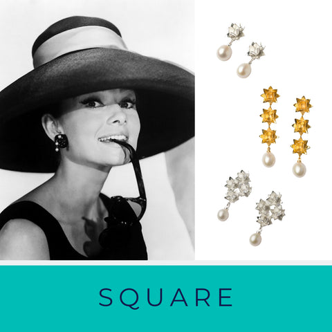 Square face shape and Brave Edith earrings
