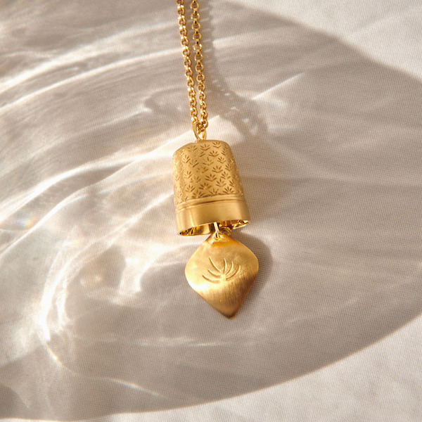 SUN SHINING ON GOLD BRAVE EDITH PRECIOUS BELL PENDANT