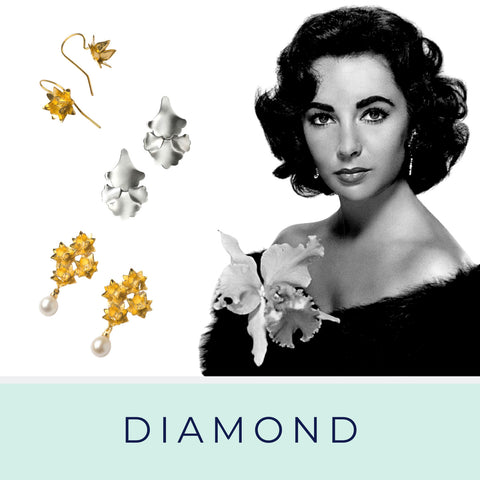 Diamond face and Brave Edith statement earrings