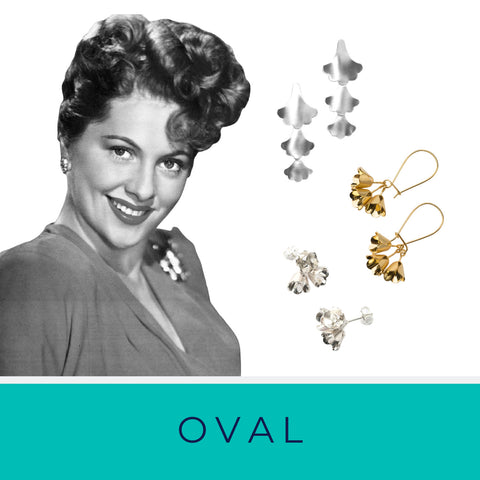 Oval face shape and Brave Edith statement earrings