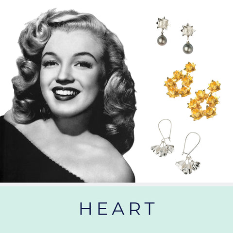 Heart shaped face and Brave Edith earrings