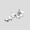 silver plume long train earrings on angle on white background