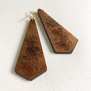 Wood earrings available at Jenny Drake Designs