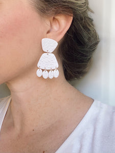 Wedding day clay earrings