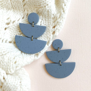 ANGIE Cornflower Stone Polymer Clay Earrings