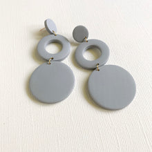 Load image into Gallery viewer, BAILEE Open Circle Drop Polymer Clay Earrings