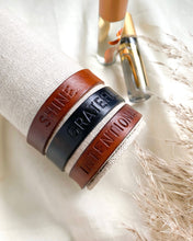 Load image into Gallery viewer, One Word Personalized Leather Bracelet