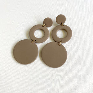 BAILEE Open Circle Drop Polymer Clay Earrings