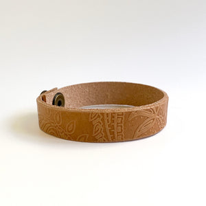 TAN BOHO LEATHER BRACELET