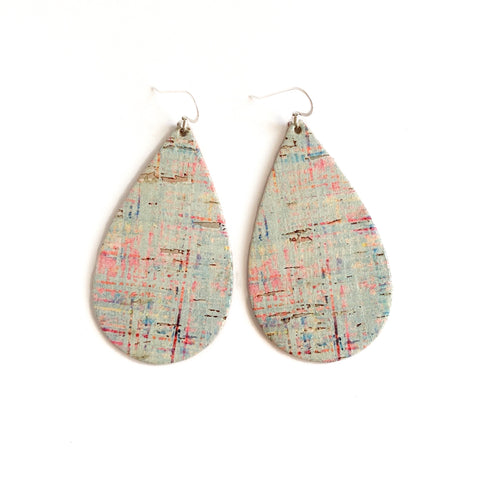 MINT CORK TEARDROP EARRINGS
