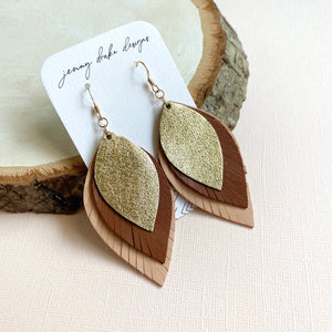 FREEBIRD Leather Feather Earrings