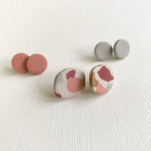 Load image into Gallery viewer, CLAY STUDS TRIPLE EARRING SET