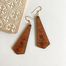 Load image into Gallery viewer, SUNFLOWER WOOD EARRINGS