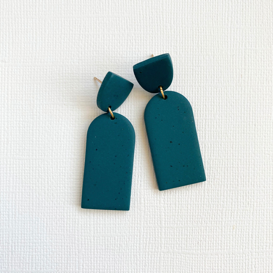 Dome Polymer Clay Earrings
