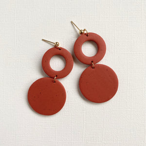 Clay Circle Drop Earrings | LAUREN