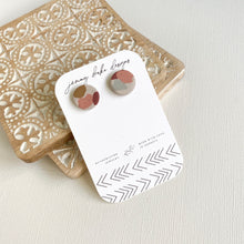 Load image into Gallery viewer, MULTICOLOR CLAY STUD EARRINGS