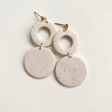Load image into Gallery viewer, Clay Circle Drop Earrings | LAUREN