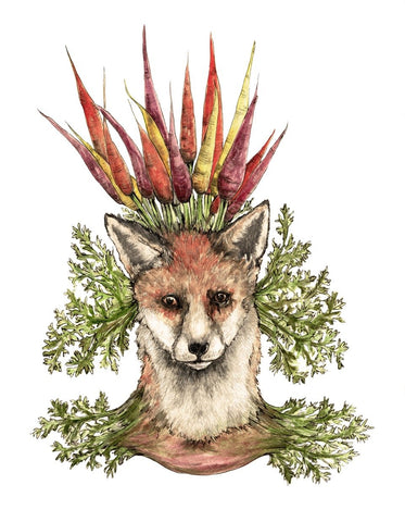 """Foxy carrot"" FineArtPrint 21x30cm"