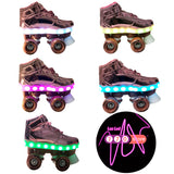 Patines 4 ruedas luces led talle 34 zapatilla con luces led estilo urbano