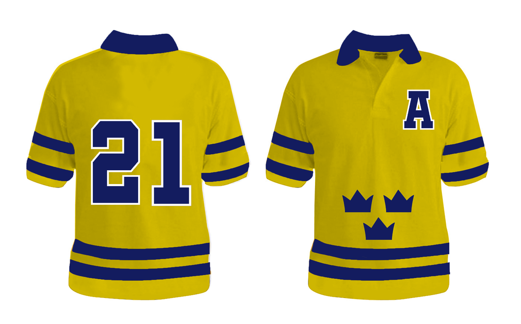 Custom Sweden Golf Shirt