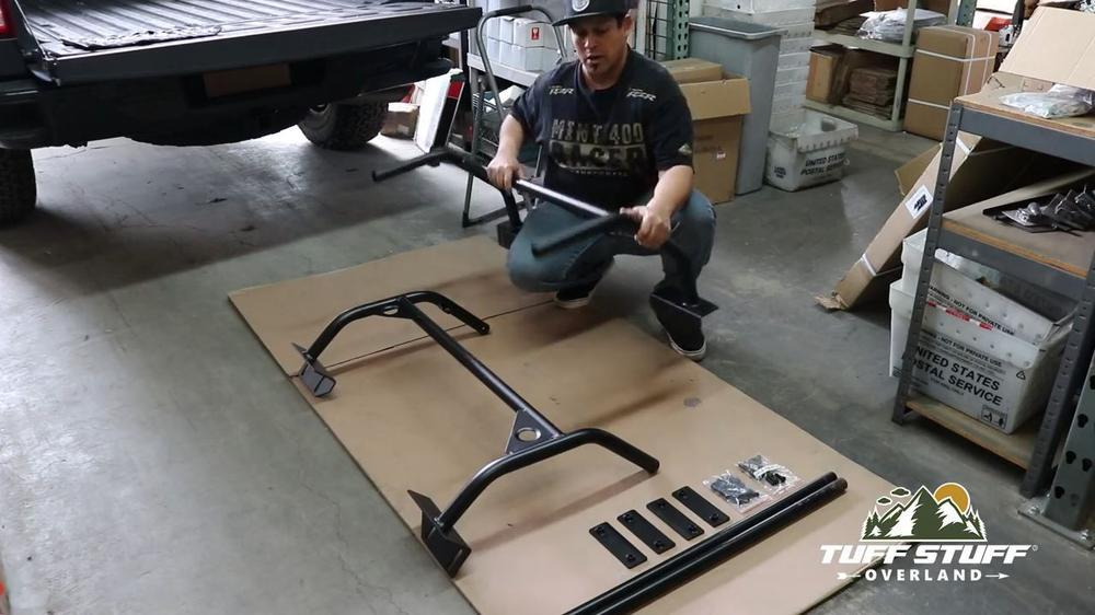 Installation Video: Universal Roof Top Tent Truck Bed Rack | Tuff Stuff 4x4 & Tuff Stuff Overland