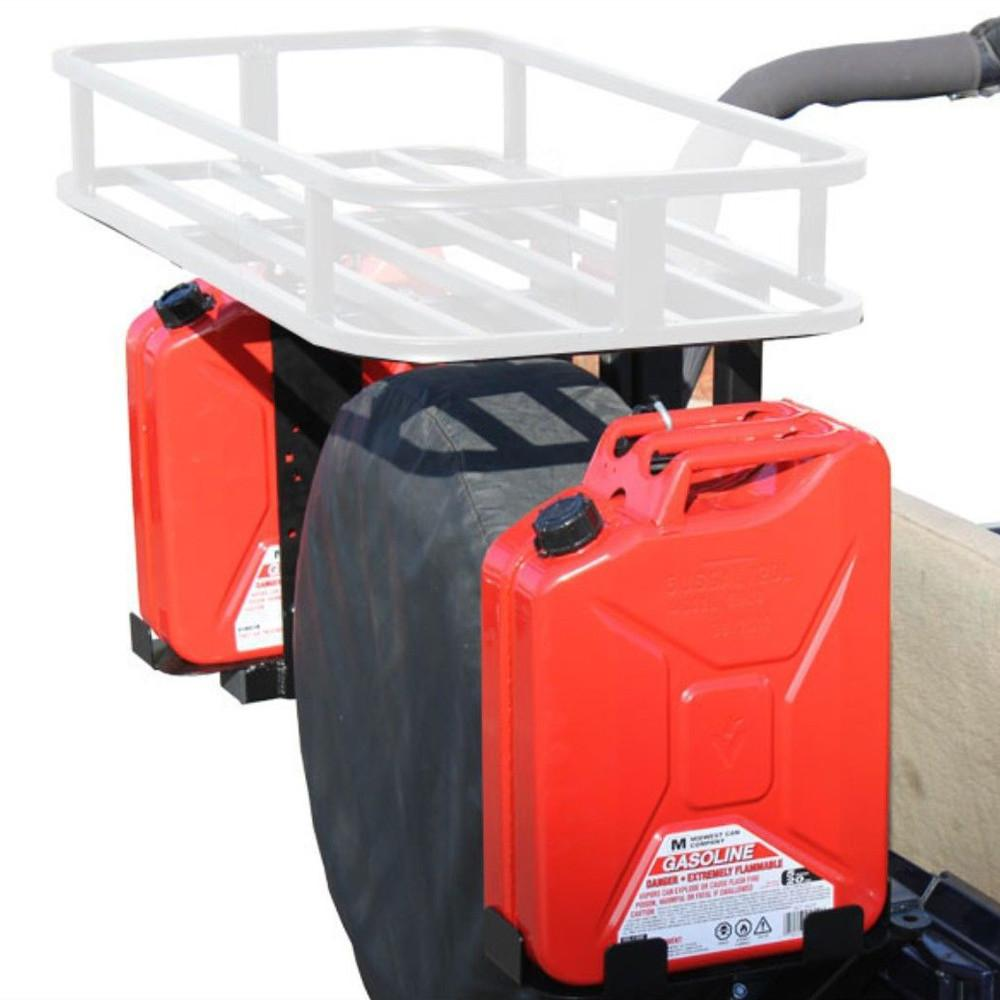 "Material: 1/4"" textured powder-coated steel 2X Jerry Can Mounts (both right & left side)"