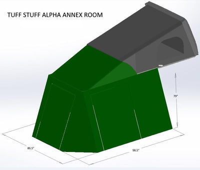 Tuff Stuff® Alpha™ Clam Shell RTT, Annex Room - Tuff Stuff Overland - Annex Room