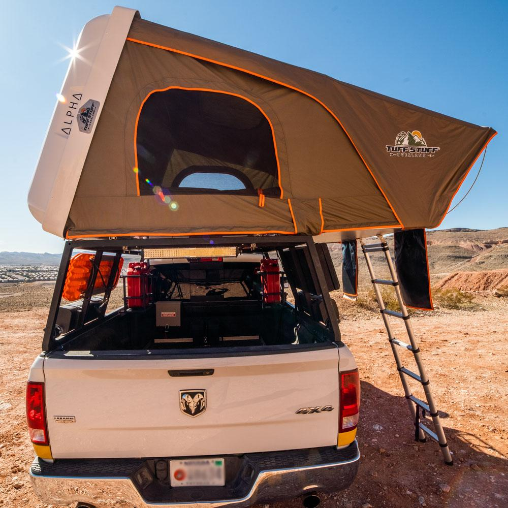 Tuff Stuff® ALPHA Hard Top Side Open Tent, White, 4 Person - Tuff Stuff Overland - Roof Top Tent
