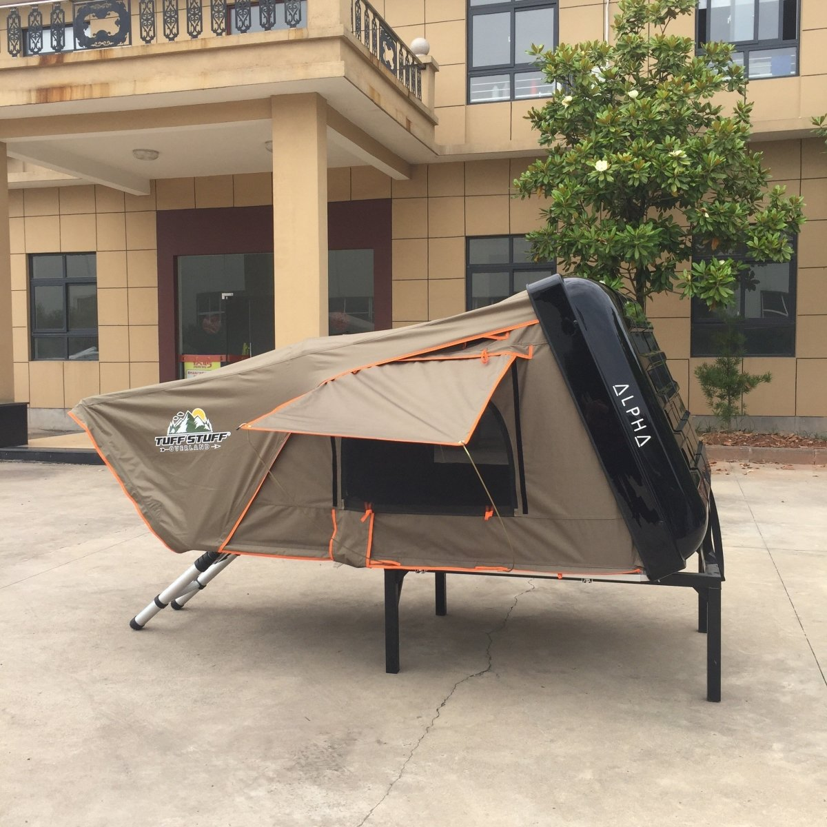 Tuff Stuff® ALPHA II™ Hard Top Side Open Tent, Black, 2 Person - Tuff Stuff Overland - Roof Top Tent