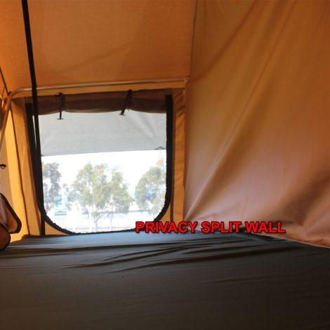 The Elite tent also comes complete with a removable split wall for added privacy.