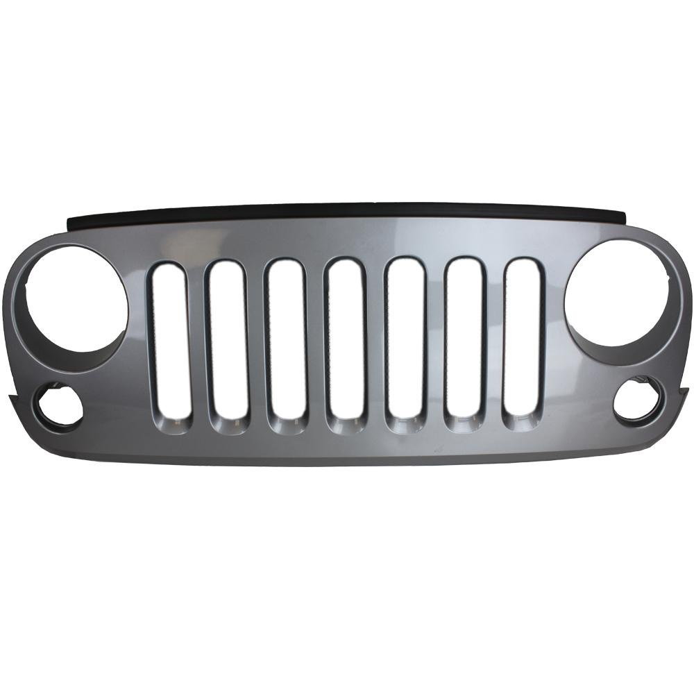 The black Tuff Stuff® grille shell is a direct replacement for your factory grille shell of your 2007-2018 Jeep Wrangler JK & JKU.  The black grille shell comes in a paintable flat black surface, ready for primer or paint. Just paint to match, add your Jeep emblem and you're ready to go.