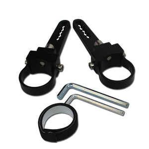 "2X (1 pair) BILLET ALUMINUM TUBE CLAMPS FOR 1.5"" TUBE 2X ALLEN KEYS"