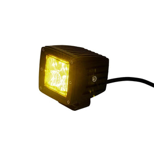 "Tuff Stuff® LED Cube Lights 2"" × 2″ Dust/Fog/Spot Beam, 20 Watt/1,860 Lumens, Amber (Single) - Tuff Stuff 4x4 & Tuff Stuff Overland"