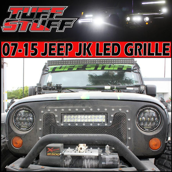 Clearance 50 Off Jeep Jk Led Light Bar Grille Shell