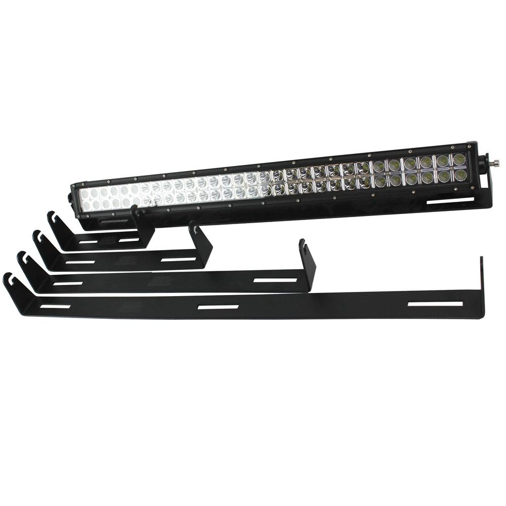 Mounts most side post mounted light bars 18 MONTH WARRANTY Textured black powder coating for excellent durability Mount a light bar to nearly any flat surface. Easily allows adjustment of light bar with the turn of 2 allen screws.