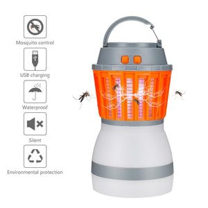 3W White LED light 3 levels of brightness Bug zapper: 1200V IP67 Waterproof 2200mAh lithium Ion battery 1200 volt silent bug zapper