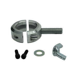 "Machined billet aluminum Fits 1.5"" diameter tubing Sold individually (Purchase 2 to mount a jack) Lockable Rigid gnarls to grab onto the tube and never slip Hardware included: 1 Wingnut, 2 washers, 2 Allen screws to clamp together"