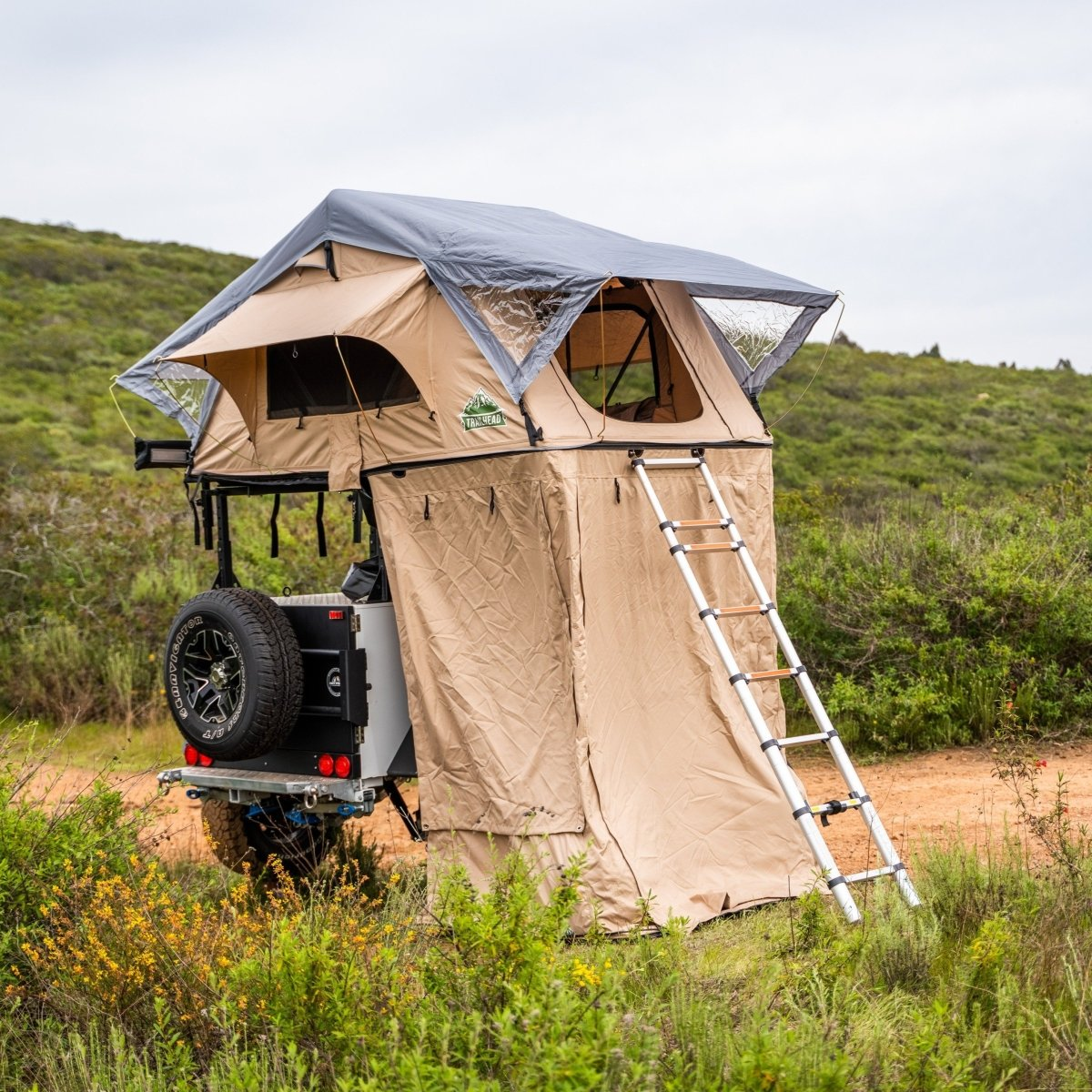 Tuff Stuff® Overland Roof Top Tent Annex Room, w/ Floor, Delta & TRAILHEAD™ - Tuff Stuff Overland - Annex Room