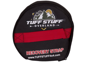 Tuff Stuff® Recovery WinchThe Tuff Stuff® recovery strap is made from high quality, high capacity blue polyester webbing with reinforced end loops, making it safe to attach to any surface of the vehicle or recovery point. All Tuff Stuff recovery straps resist UV radiation, water, mold and extreme temperature variation which provides an incredibly long service life. Strap W/ Storage Case - Tuff Stuff 4x4 & Tuff Stuff Overland