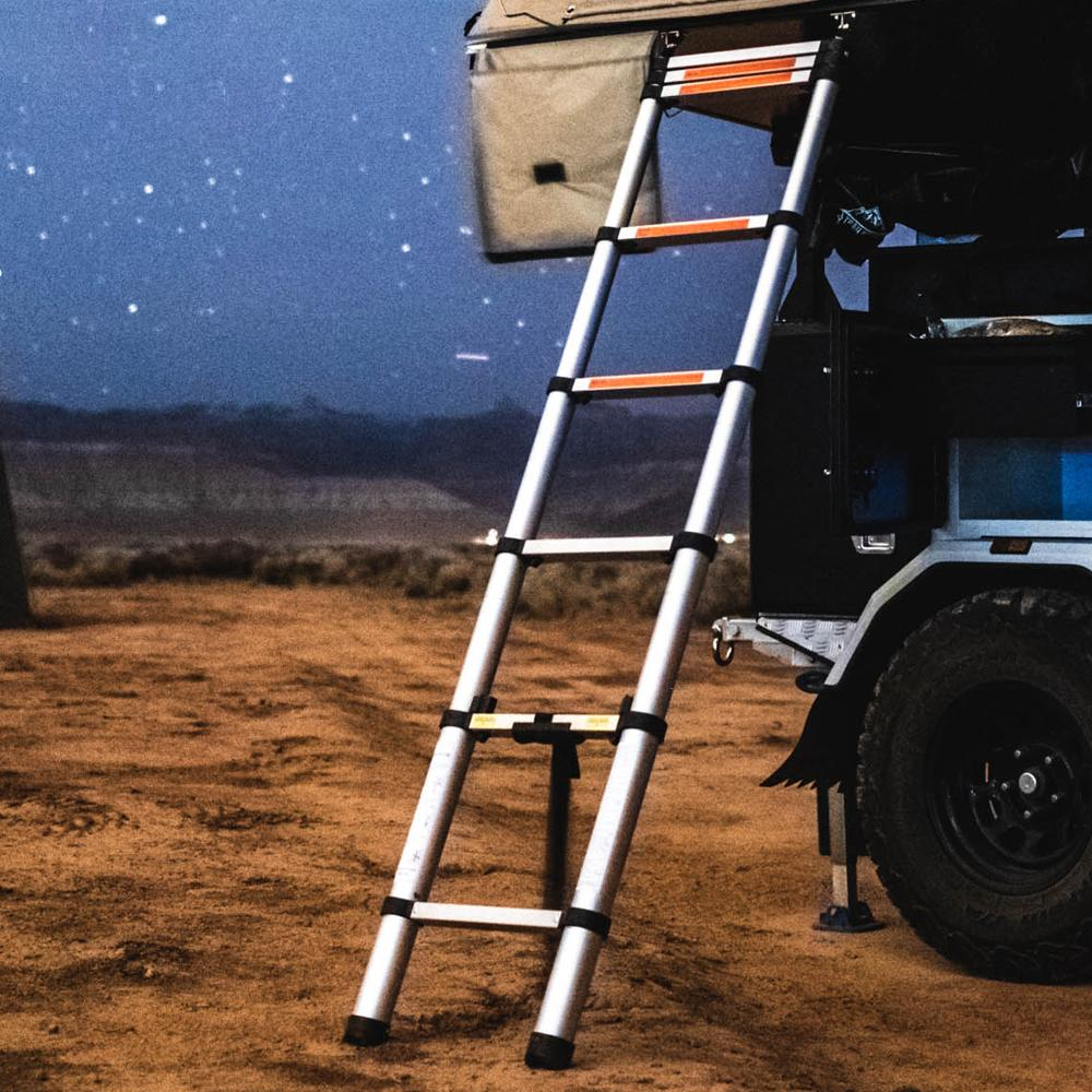 Tuff Stuff® Roof Top Tent Telescoping Extension Ladder, 102 IN - Tuff Stuff Overland - Ladder Extension & Annex Extension