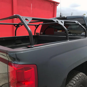 Dimensions L/W/H: 60 x 68 x 14.5 (max-width is 68 inches) Distance from bar to bar: 55.5 inches Capacity Static: 800 lbs Capacity Dynamic (Driving down the road): 650 lbs  Powder-coated for a long-lasting finish and protection