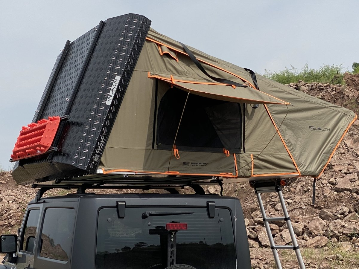 Tuff Stuff® Stealth™ Aluminum Side Open Tent, 3+ Person - Tuff Stuff Overland - Roof Top Tent