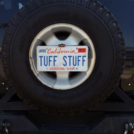 The Tuff Stuff® 3rd brake light & License plate relocation bracket moves your license plate out of harm's way when battling the trail, and in a much more visible location in the center of your rim.